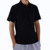 gładka czarna koszulka polo