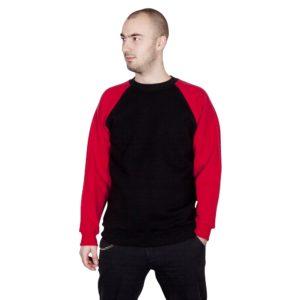 bluza reglan czarno czerwona