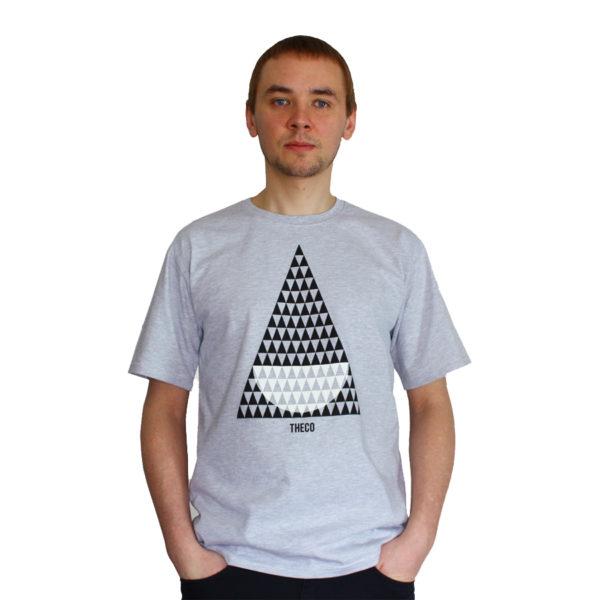t-shirt - geometryczny - melanz