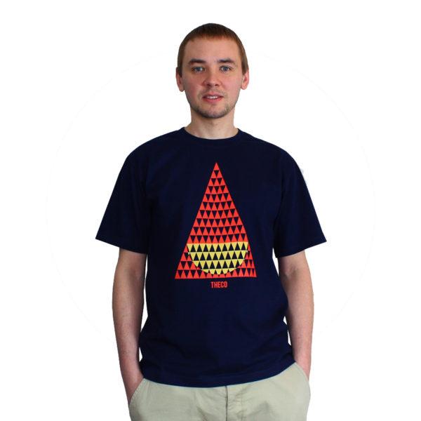 koszulka granatowy geometryczna
