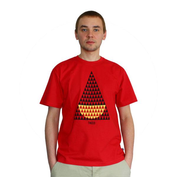 t-shirt- trojkaty-czerwony